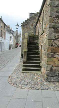 Steps in St, Andrews, Fife. St Andrews Scotland, Most Beautiful Cities, Places To Visit, Sidewalk, Stairs, Country, Home Decor, Stairway, Decoration Home
