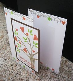 Tri Fold Card ~ nice border on this one, inside and out