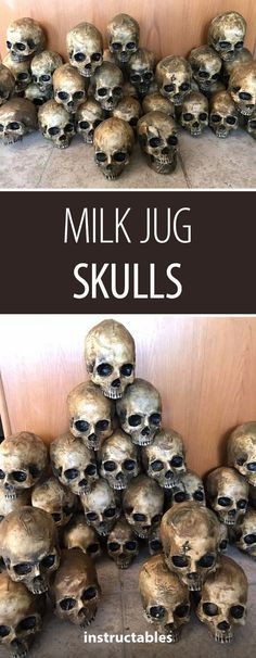 This is awesome but seems so time consuming 😩.It's really easy to make truly horrifying decor. Save up your gallon size milk , water or ice tea jugs to create creepy Halloween decorations by melting and shaping the jugs over a master skull. Halloween Prop, Looks Halloween, Halloween Skull, Holidays Halloween, Halloween Treats, Happy Halloween, Diy Creepy Halloween Decorations, Awesome Halloween Costumes, Halloween Parade