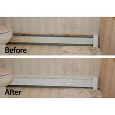 NeatHeat 6 ft. Hot Water Hydronic Baseboard Cover (Not for Electric Baseboard)-NEATHEAT6 at The Home Depot