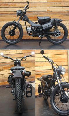 Mini Motorbike, Motorcross Bike, Cafe Racer Motorcycle, Motorcycle Design, Bike Design, Honda Motorbikes, Honda Motorcycles, Cruiser Bicycle, Motorized Bicycle