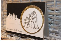 Gesegnet Weihnacht (All Ye Faithful in German), Sleigh Ride Edgelits, Gold Glimmer Paper, Circles Collection Framelits, Gold embossing powder