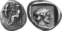 G603 A Rare and Exceptional Greek Silver Hemidrachm of Mantinea (Arkadia), a Fine Depiction of Kallisto | by Ancient Art