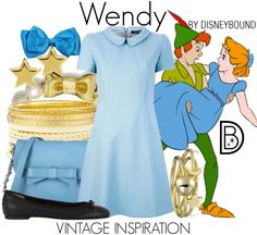 Wendy Disney Bound idea for Tinkerbell 10K outfit.