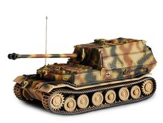 Forces Of Valor 1:72 Panzerjager Elefant Diecast Model Tank UN85352 This Panzerjager Elefant (Poland 1944) Diecast Model Tank features working gun, tracks. It is made by Forces Of Valor and is 1:72 scale (approx. 10cm / 3.9in long). Built on the chassis of the Tiger I tank, this intimidating looking 'panzerjäger' or 'tank hunter' vehicle also sported an improved version of the feared 88 mm gun. Although thick-skinned and powerfully armed, it also suffered from poor mobility and a host of…