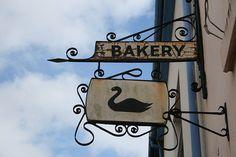 Old Bakery Sign, Dawlish, Devon, UK by Snapdragon in Lebanon, via Flickr