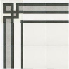 Merola Tile Twenties Corner 7-3/4 in. x 7-3/4 in. Ceramic Floor and Wall Tile-FRC8TWEC - The Home Depot