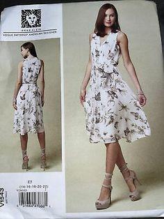 NEW VOGUE SEWING PATTERN V1543 MISSES DRESS Sz. 14-22 BY ANNE KLEIN | eBay