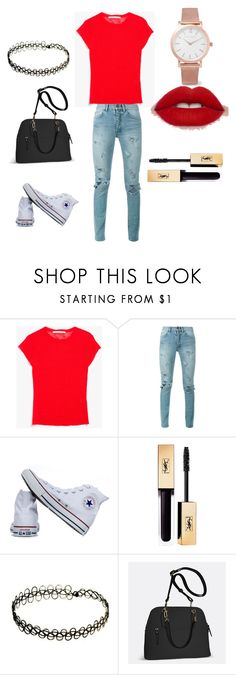"""red"" by westisha on Polyvore featuring Creatures of Comfort, Yves Saint Laurent, Converse, Avenue and Larsson & Jennings"