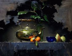The Kettle by David Cheifetz Oil ~ 11 x 14