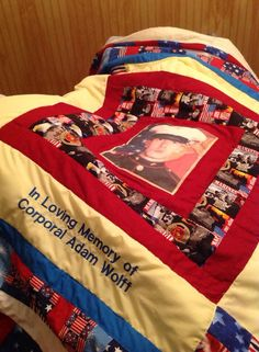 Quilt for a Gold Star mom.
