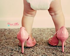 baby in big shoes