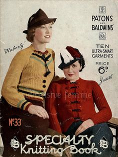 The Vintage Pattern Files: 1930's Knitting - P&B's Speciality Knitting Book N...
