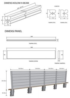Precast concrete panel & H-Beam column