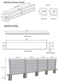 Precast concrete panel & H-Beam column