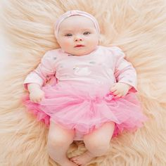Milky Swans Tutu Bubbysuit in Pink