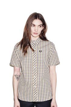 Fred Perry - Reissues Gingham Short Sleeve Shirt 1964 Gold. A great top for mod with $130 to spare.