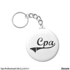 Cpa Professional Job Basic Round Button Keychain