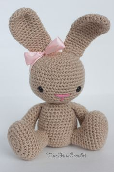 Crochet Bunny Amigurumi Toy (Sprinkles) - Made to Order by TwoGirlsCrochet on Etsy https://www.etsy.com/listing/162304972/crochet-bunny-amigurumi-toy-sprinkles