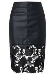 0538d25bac Darling London Suki Faux Leather Fitted Skirt Black Size UK 16 LF182 KK 05  #fashion