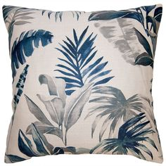 Square Feathers Home Coast Tropical Pillow
