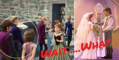 Flynn rider and Rapunzel in Disney's Frozen!?!? So cool. I see what you did there, Disney.