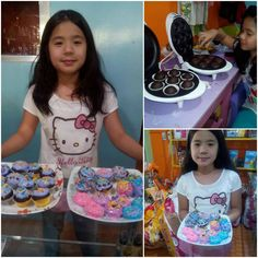 It's all fun and play while baking for this buyer's daughter.  You too can bake with the Smart Planet or Delish Treats units  Click LIKE for learning to bake  .