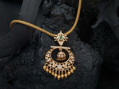 Simple gold chain with diamond chandbali pendant. The floral design interlaced with diamonds in close setting, the chandbali design diamond pendant Gold Pendent, Diamond Pendant, Halo, Gold Jewellery Design, Gold Jewelry, Fancy Jewellery, Resin Jewellery, Jewellery Shops, Antique Jewellery