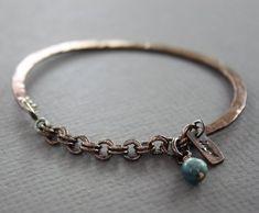 Copper half bangle bracelet with kyanite stone - Cuff bracelet - Copper bracelet - Healing bracelet - Birthstone bracelet, Wire Wrapped Bracelet, Copper Bracelet, Copper Jewelry, Silver Bracelets, Wire Jewelry, Bangle Bracelets, Copper Wire, Copper Cuff, Bohemian Bracelets