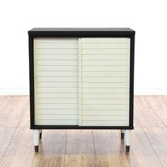 Mid Century Black U0026 White Cabinet