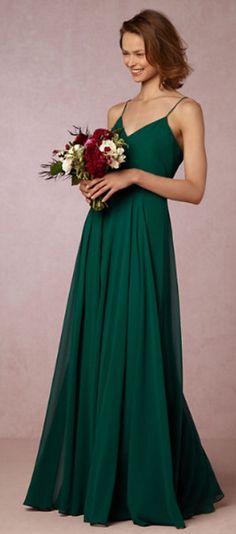 Emerald wedding dress / bridesmaid dress.