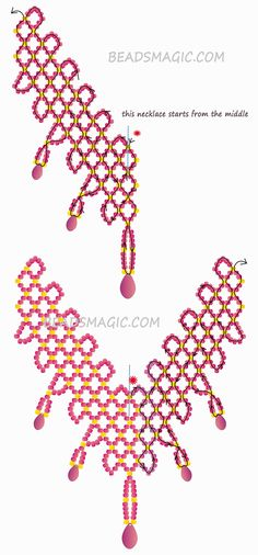 Free pattern for necklace Scarlet Sails | Beads Magic