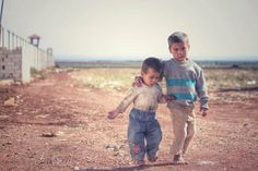 My brother & I are Syrian children of war