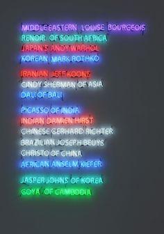 Iranian artist, Leila Pazooki Moment of Glory Neon light installation Dimensions variable 2010Leila Heller Gallery