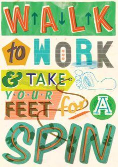 Holly Wales | Illustrator & Educator | felt tip marker pen collage handmade colour illustr: Do The Green Thing