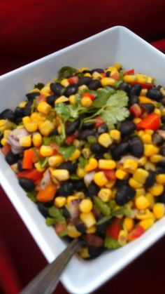 A colorful corn salsa to top off any great dish! Our quality food will always add a little zest to your party! Call today to book great #catered food! #OCcatering