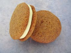 Gingersnaps, Ginger Lemon Cream Sandwich Cookie by Whittlespoon on Etsy