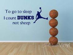 Basketball Wall Decal for Boys Girls Room Playroom Nursery