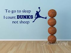 Basketball Wall Decal for Boys Girls Room Playroom Nursery