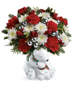Send a Hug Cuddle Bears Bouquet : Starting at $49.95 – Deluxe upgrade costs $59.95 and Premium upgrade costs $69.95