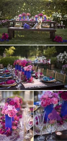 Vibrant Pink and Blue Spring Wedding Styled Shoot in California | WeddingWire: The Blog Vendors: Photography: Cakes & Kisses | Venue: Hyatt Regency Valencia | Event Coordinator: First Pick Planning | Sweet and Salty Bar Styling:  The Events Boutique | Floral Designer: Enchanted Garden Floral Design | Invitations: Details by Oksana | Calligrapher: Calligraphy Katrina and Maison du Paplier  Cake: Fantasy Frostings | Equipment Rentals: A1 Event Rentals