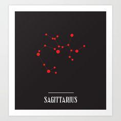 ZODIAC SIGNS Zodiac Signs Sagittarius, Art Prints, Poster, Posters, Billboard, Art Print