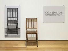 Arte Conceptual / Joseph Kosuth / Una y Tres Sillas.
