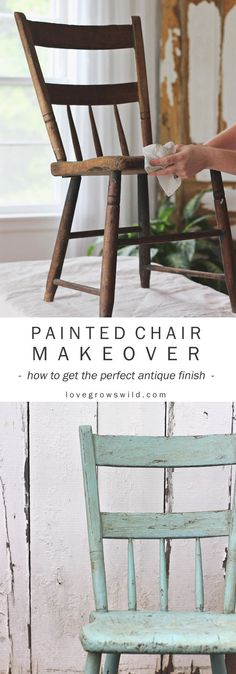 Step-by-step instructions for painting furniture in a gorgeous antique finish! See the best products to use and full tutorial at LoveGrowsWild.com | @decoart #ad