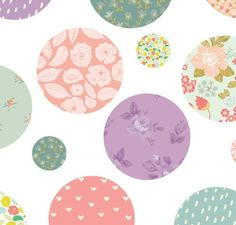 Fabric+Wall+Decal++Pretty+Polkadots+reusable+NO+by+LoveMaeStore