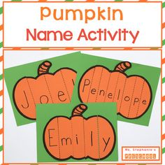 Browse over 90 educational resources created by Ms Stephanies Preschool in the official Teachers Pay Teachers store. Name Activities Preschool, Fall Preschool, Preschool Lessons, Writing Activities, Classroom Activities, Kindergarten Names, Halloween Activities, Educational Activities, Head Start Classroom