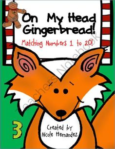 """FREEBIE-On My Head, Gingerbread! Matching Numbers 1 to 20 from A_Teachers_Idea on TeachersNotebook.com (9 pages)  - """"Climb onto my head Gingerbread!"""" This is a wonderful addition to your gingerbread activities and your themed math centers. Simply laminate the pieces (including the colored or black and white mat) for durability. Cut out the cookies and the num"""