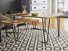 Atelier Ripaton - Hairpin Legs - Belle table gigogne avec nos pieds brut ! www.ripaton.fr #DIY #Meuble #Furniture #Hairpin #HairpinLegs #Épingle #Design #Déco #Décoration #DoItYourself #HomeMade #FaitMain #Intérieur #PiedDeTable #Inspiration