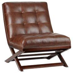 Scandinavian Style Leather Slingback Chair Circa 1960s On Sturdy