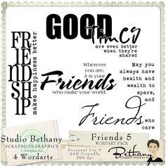 Friends 5 WordArt